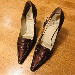 Joan & David Brown Heels
